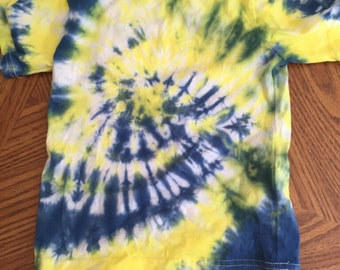 4/5 yellow and blue tie dye
