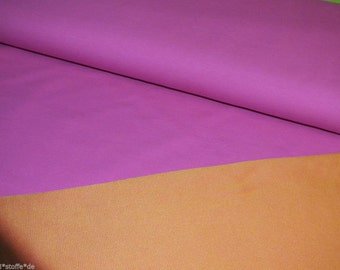 Stretchjersey Sutton 2 colored pink orange double face Hilco elastic on both sides 0.5 m