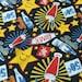 Sweatshirt fabric soda Club black stained Hilco fabric for Kids Summer fabric 1 metre