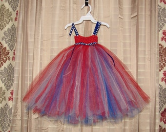 Red, White, and Blue Tutu Dress