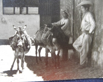 Antique 1920's Real Photo Postcard Post Card Mexico RPPC Taxco