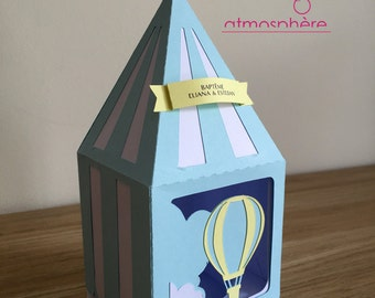 "Box fudge Theme ""Balloon"" - christening, birthday, wedding"