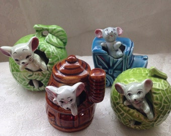 Vintage 'Mouse in a ....' collection of 4