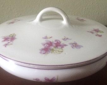 Vintage Z S & Co. Bavaria Round Covered Serving Bowl