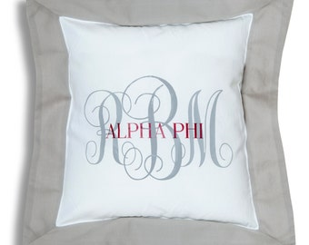 APHI  Alpha Phi Sorority Personalized Throw Pillow.