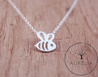 "Silver-plated chain ""Honey Bee"""