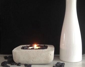 Concrete Tealight holder contemporary design concrete candle holder candle holder