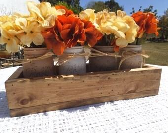 Centerpiece, Mason Jar, wedding centerpiece, wedding gift, farmhouse, rustic, dining table, kitchen table, housewarming gift, party