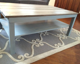Rustic Chic Coffee Table, Reclaimed,  Up cycled, Recycled, Plank, Distressed, Modern.