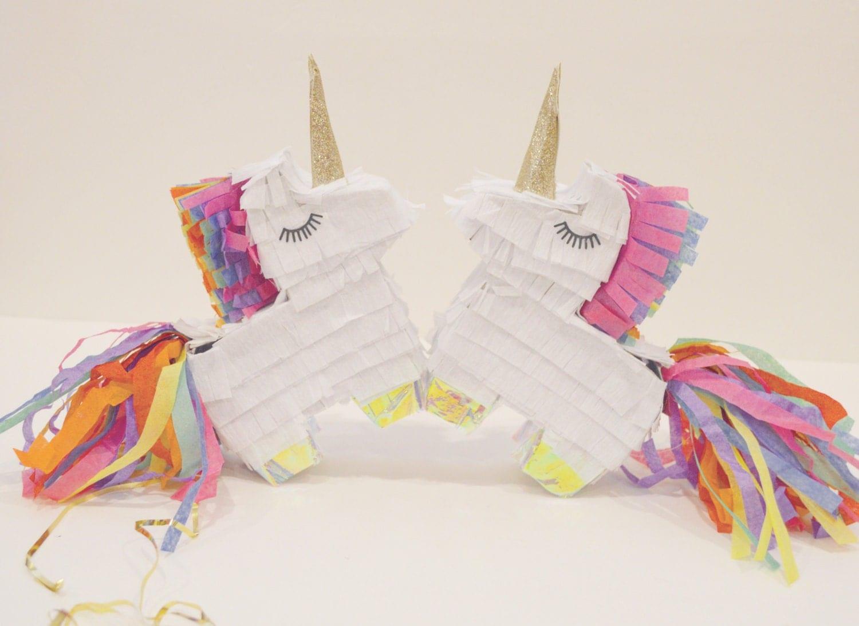 Mini unicorn pinatas set of 2 unicorn party unicorn for Decoration pinata