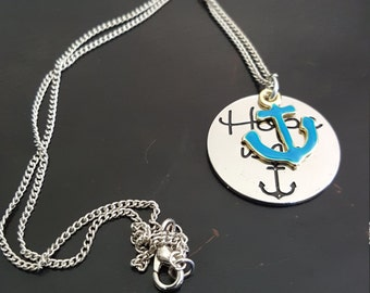 "18"" Anchor Charm Necklace"