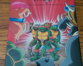Teenage mutant Ninja Turtles super rocksteady and mighty bebop vhs tape vintage
