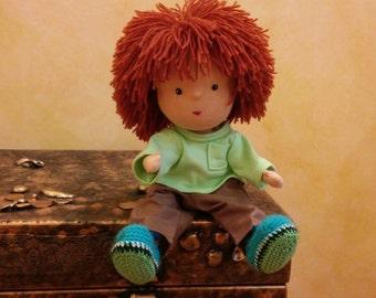 "Good waldorf doll Tom(SALE 50% ) 14,5""(35 sm)"