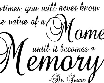 Moments and Memories Vinyl Wall Decor