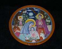 "1984 Konigszelt Bayern Hedi Keller Collection ""Die Geburt Christi"" Christmas Collector Plate"