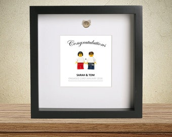 Personalised Engagement lego frame