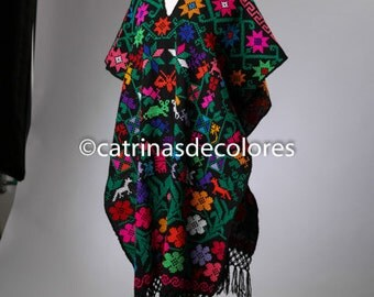 Mexican Pavo Real Poncho