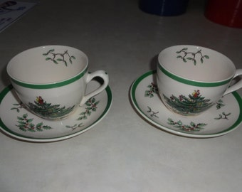 2 SPODE CUPS & Saucers