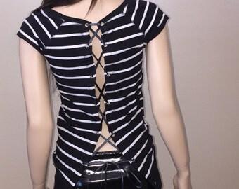 Corset Shirt | Size Small | Womens shirt | free shipping usa