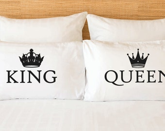 Cotton 2nd anniversary gift - King Queen couples pillow
