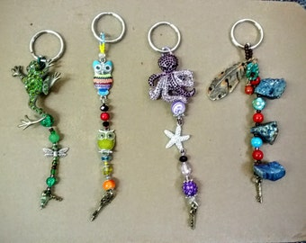 Colorful Keychains with Character