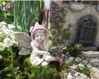Miniature Dollhouse FAIRY GARDEN ~ Miniature Garden Fairy Kathy - New