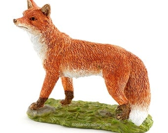 Miniature Dollhouse FAIRY GARDEN ~ Cute Red Fox  ~ NEW