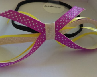 Pink Lemon-aid head band