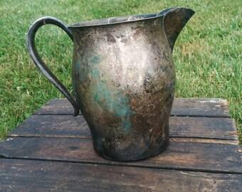 Vintage silver pitcher