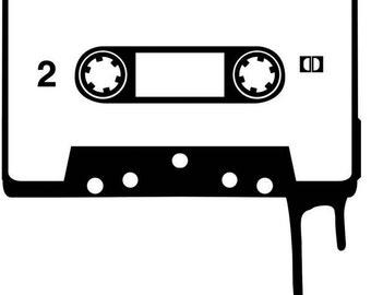Cassette Tape vinyl decal sticker