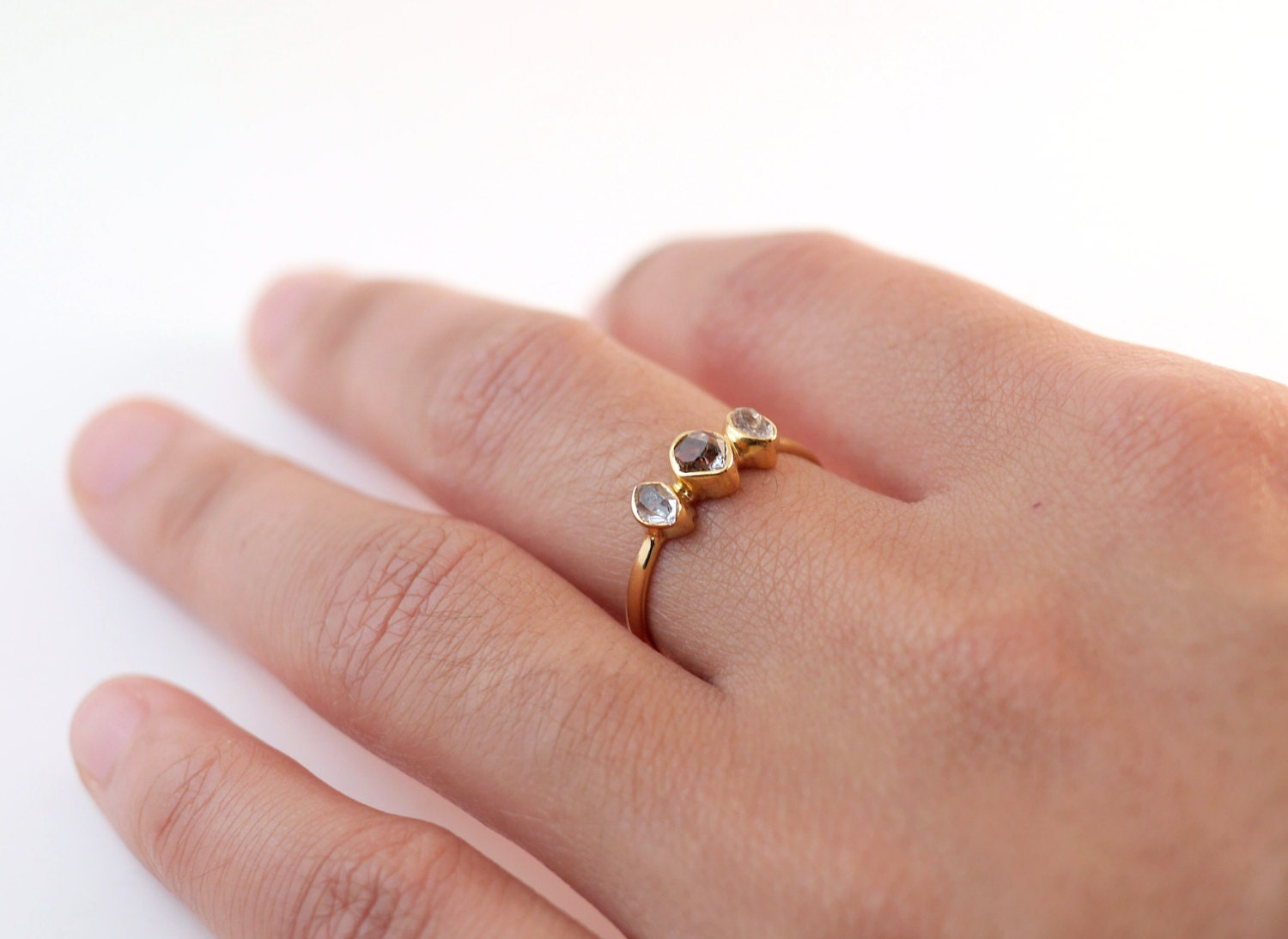 herkimer diamond ring gold dainty rings ring for. Black Bedroom Furniture Sets. Home Design Ideas