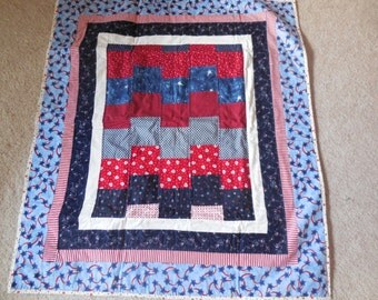 Baby quilt, patriotic pattern