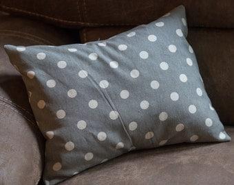 Polkadot Grey Pillow Cover