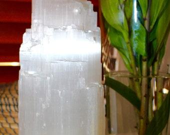 Selenite Lamp 30-35cm (Tower)