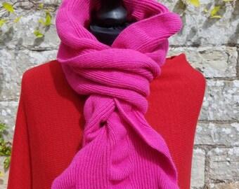 Angora and wool ruffle scarf, Scottish hand finished stylish unique ruffle scarf