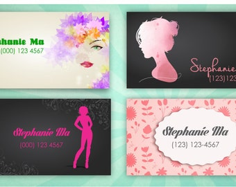 Female personal card