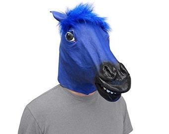 Blue Horse Head Mask Super Creepy (The Original)