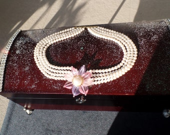 Embellished Jewelry  Case with removable Tray