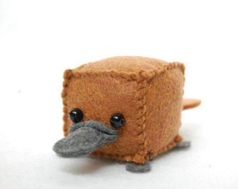 Small Cubed Platypus Toy Animal