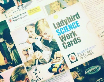 Retro Ladybird Science work cards (First set, 1975).