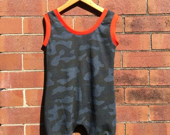 Camouflage Romper - Size 4
