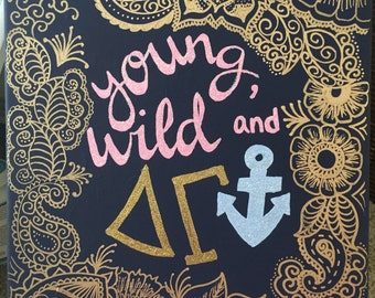 """Custom canvas """"young wild and dg"""""""