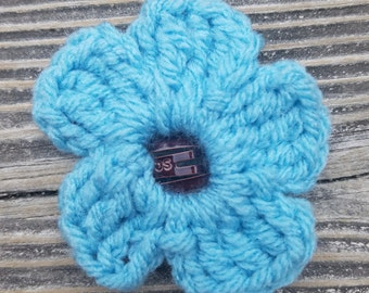 Crochet Flower Barrette