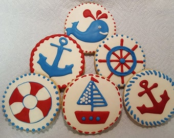 Nautical Cookie Favors - Set of 6