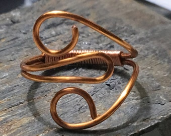 Heart shaped copper ring