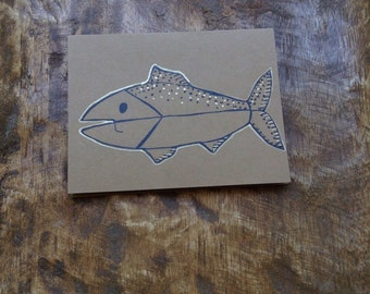 Handmade Fish card with envelope