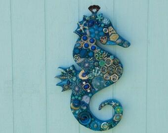Blue Seahorse (small)