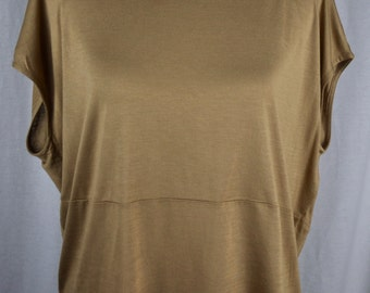 Willow and Clay Oversized Coffee-Colored Blouse Sz S