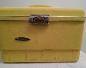 Vintage Train Case Luggage by Sears