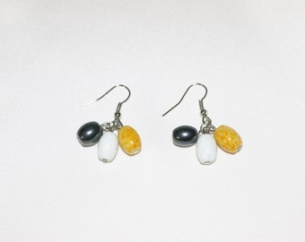 Mixed Color Cluster Earrings